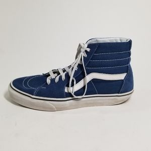Vans High Top Blue Skate Shoes
